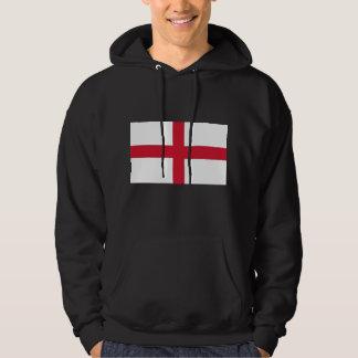 Hooded Sweatshirt with Flag of England