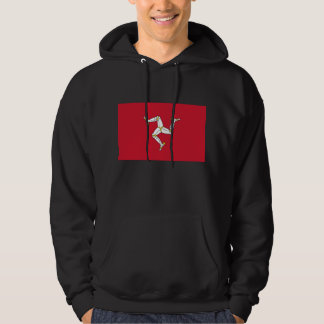 Hooded Sweatshirt with Flag of Isle of Man