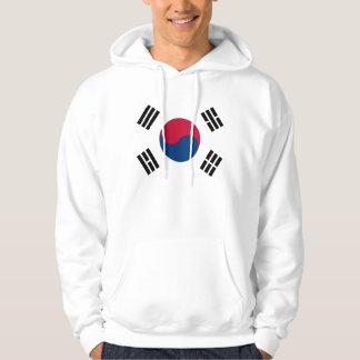 Hooded Sweatshirt with Flag of South Korea