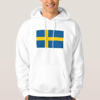 Hooded Sweatshirt with Flag of Sweden