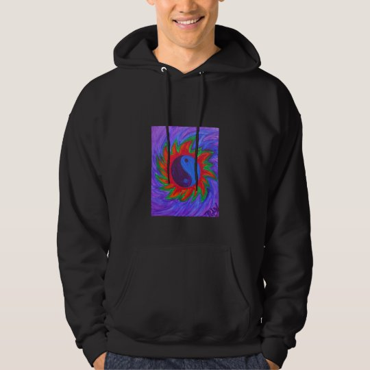 Hooded Sweatshirt -yin & yang vibrations