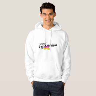 Hooded Sweatshirts white has colorful tomorrow