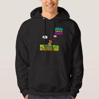 "hoodie ""cartoon art""  dog and tortle"