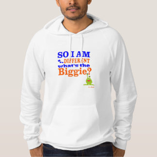 Hoodie with bold phrase