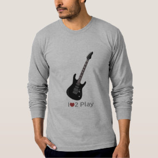 Hoodie with illustration of an electric guitar