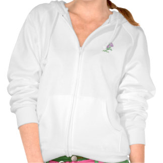Hoodie with lilac flower