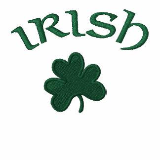 Hoodie Zip Up-Irish Shamrock Embroidered
