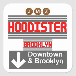 Hoodister Brooklyn New York Square Sticker