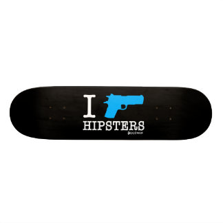 "Hoodman ""I Shoot Hipsters"" Black Skate Board Deck"