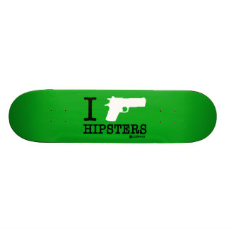 Hoodman I Shoot Hipsters Green Skateboard Decks