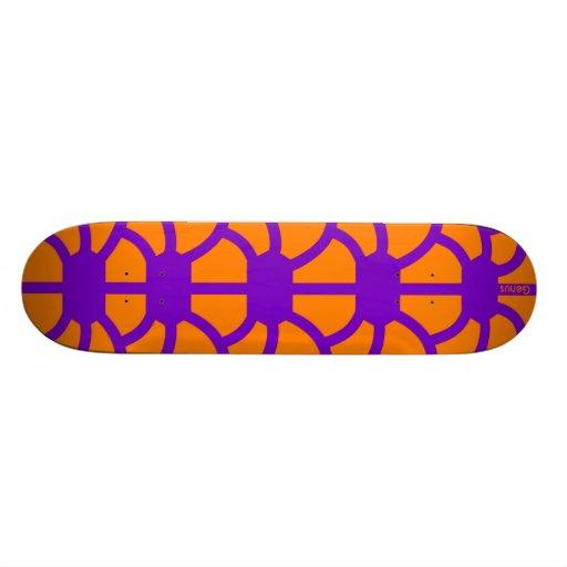 """Hoodman """"Tortoise"""" Purple Orange Skate Deck"""