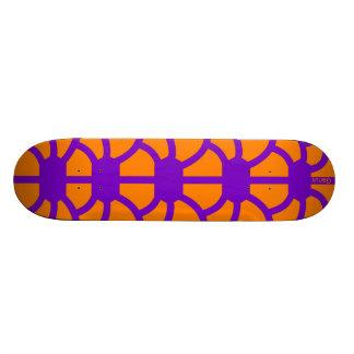 """Hoodman """"Tortoise"""" Purple Orange Skate Board Deck"""