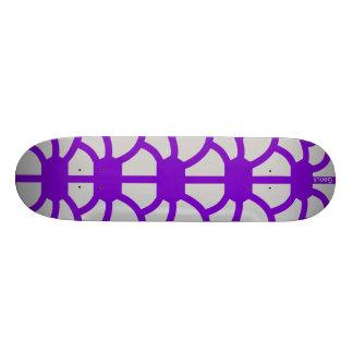 """Hoodman """"Tortoise"""" Purple Silver Skate Boards"""