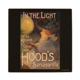 Hood's Sarsaparilla Promotional Poster Wood Coaster