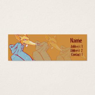 Hoody Fox - Skinny Mini Business Card