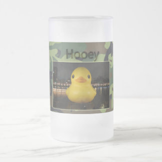 Hooey Rubber Ducky Frosted Glass Mug