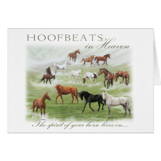 Hoofbeats in Heaven - Horse Sympathy Card