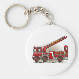 Hook and Ladder Fire Truck Keychain