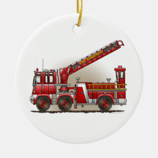 Hook and Ladder Fire Truck Ornament
