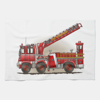 Hook and Ladder Fire Truck Towels