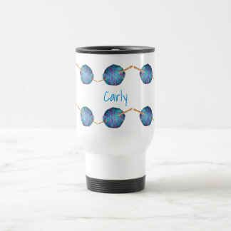 Hook and yarn personalised with your name travel mug