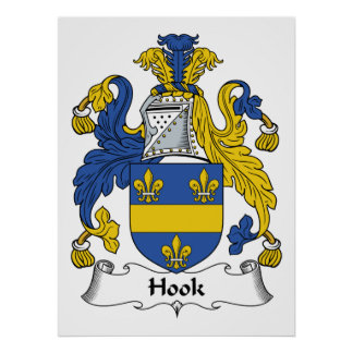 Hook Family Crest Print