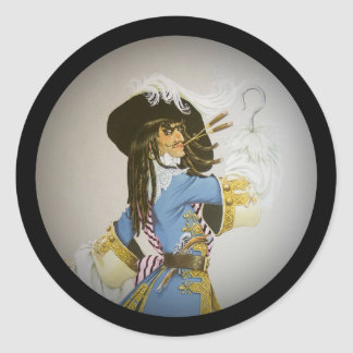 Hook from Peter Pan Round Sticker