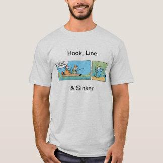 Hook Line and Sinker Fishing Comic T-Shirt