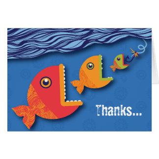 Hook, Line & Stinker Thank You Card
