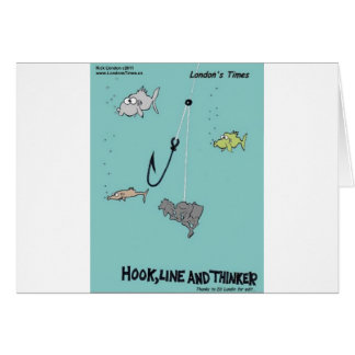 Hook Line Thinker Funny Gifts Tees Cards Cards