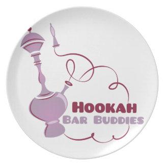 Hookah Bar Buddies Party Plate