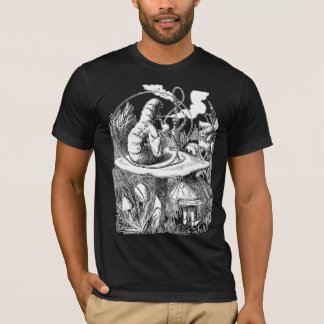 Hookah, Mushroom, Caterpillar, Alice in Wonderland T-Shirt