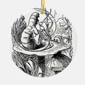Hookah Smoking Caterpillar Alice in Wonderland Christmas Ornament