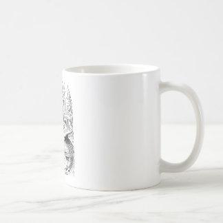 Hookah Smoking Caterpillar Alice in Wonderland Basic White Mug