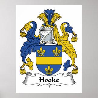 Hooke Family Crest Poster