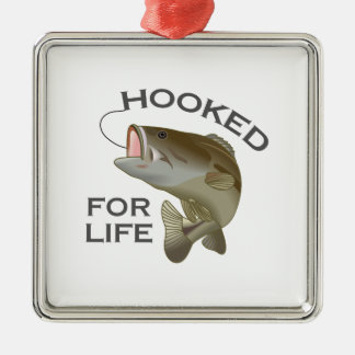 HOOKED FOR LIFE Silver-Colored SQUARE DECORATION