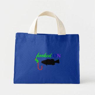 hooked on bass mini tote bag