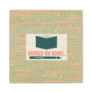 Hooked on Books Wooden Coaster Maple Wood Coaster