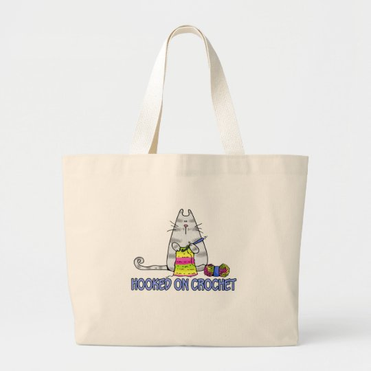hooked on crochet large tote bag