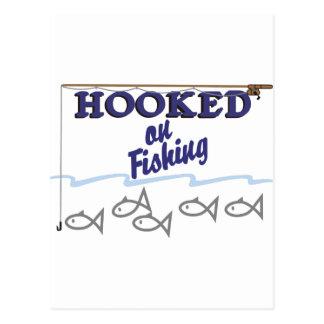 Hooked On Fishing Postcard