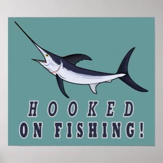 Hooked on Fishing with Swordfish Print