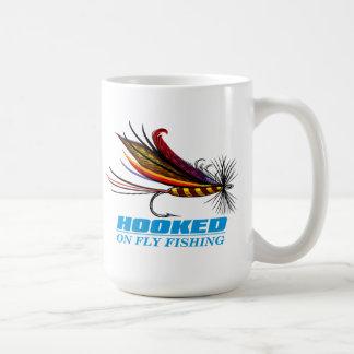 Hooked On Fly Fishing Basic White Mug