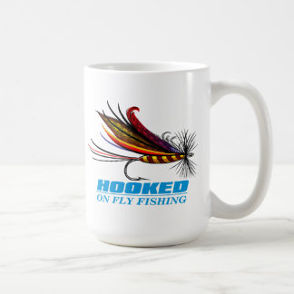Hooked On Fly Fishing Coffee Mug