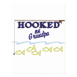 Hooked On Grandpa Postcard