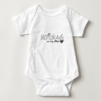 Hooked On My Officer Great Police Officer Gift Baby Bodysuit