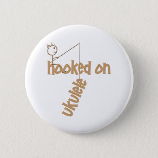 Hooked On Ukulele 6 Cm Round Badge