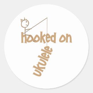 Hooked On Ukulele Classic Round Sticker