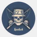Hooked Round Sticker