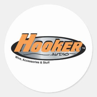 Hooker Audio Merchandise Round Sticker