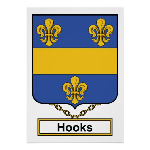 Hooks Family Crest Posters